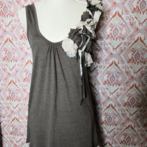 A'reve  Large Brown Tunic Shift Pullover Dress